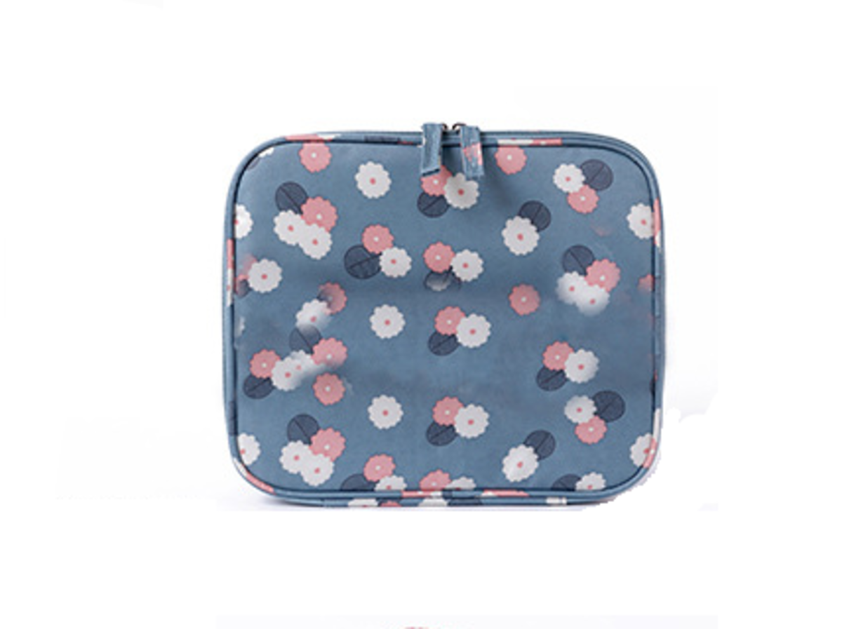 d7dde818f0e2 Diniwell | (Blue Flowers) Diniwell Korean Style Cosmetic Pouch ...