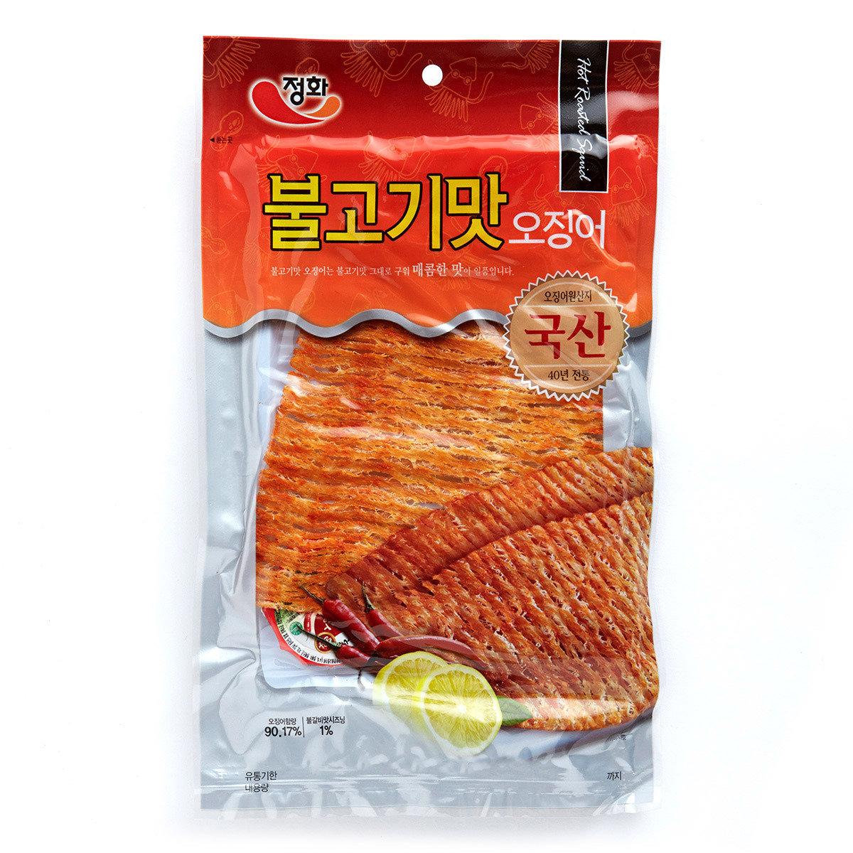 韓國烤魷魚片 - 辛辣味 (附辣椒醬)