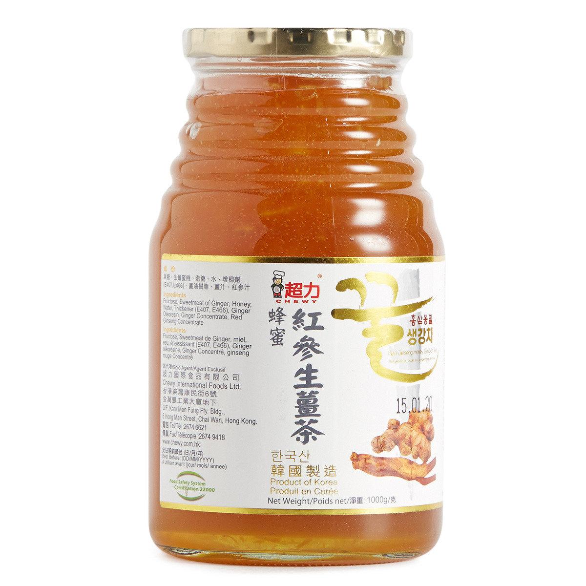 紅參蜂蜜生薑茶