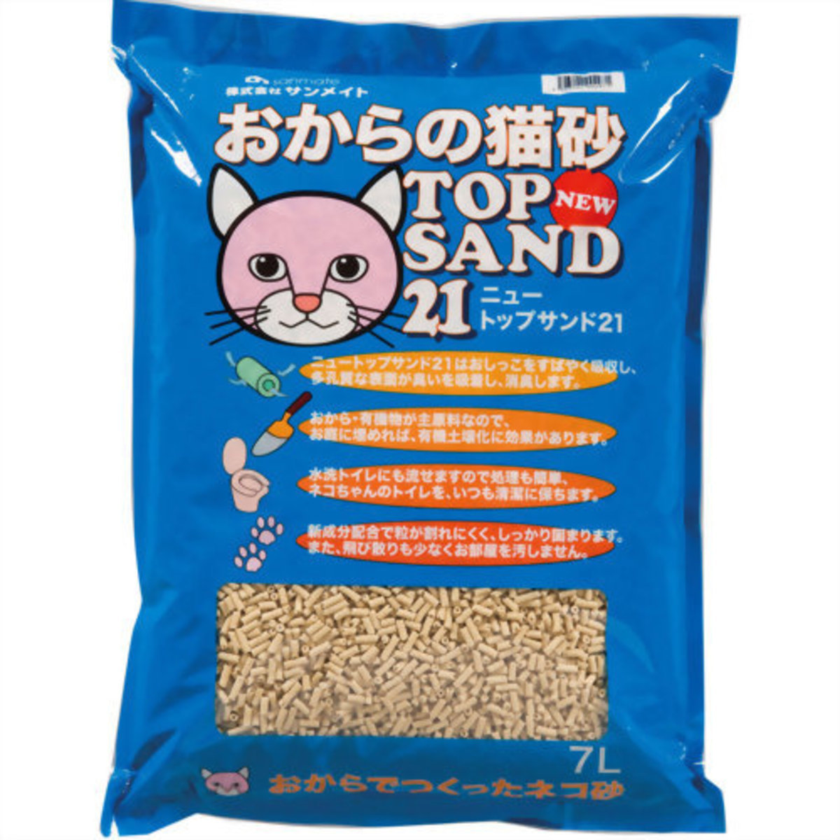 SANMATE 圓型通心豆腐砂 7L裝