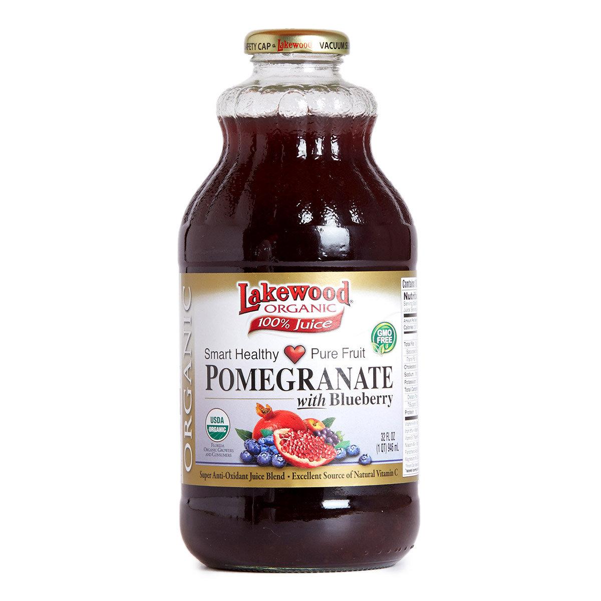 有機紅石榴藍莓汁