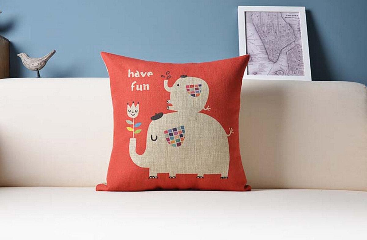 可愛大象抱枕 - B款(大象紅)