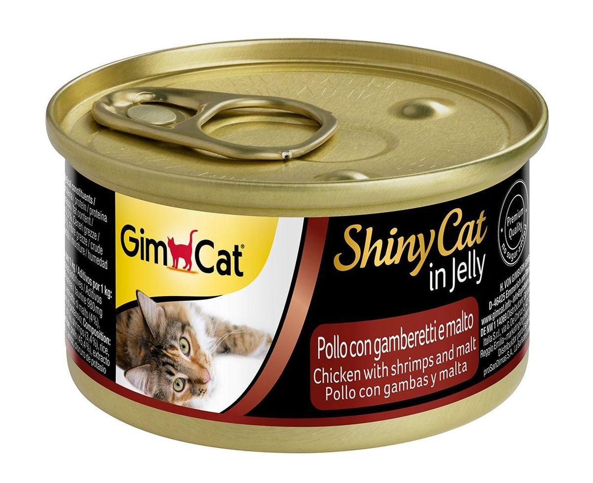 天然雞肉蝦肉貓麥芽罐頭