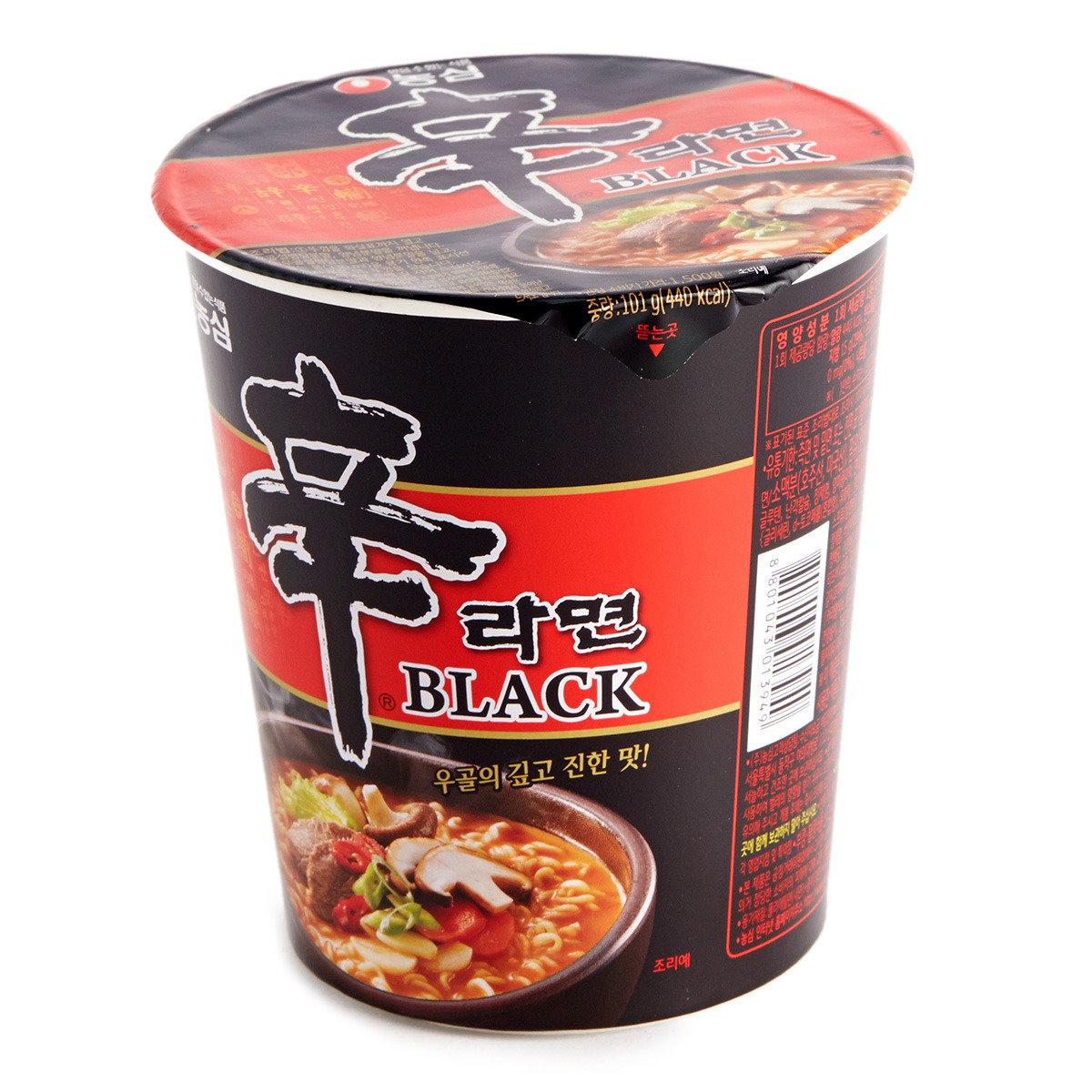 黑版辛杯麵