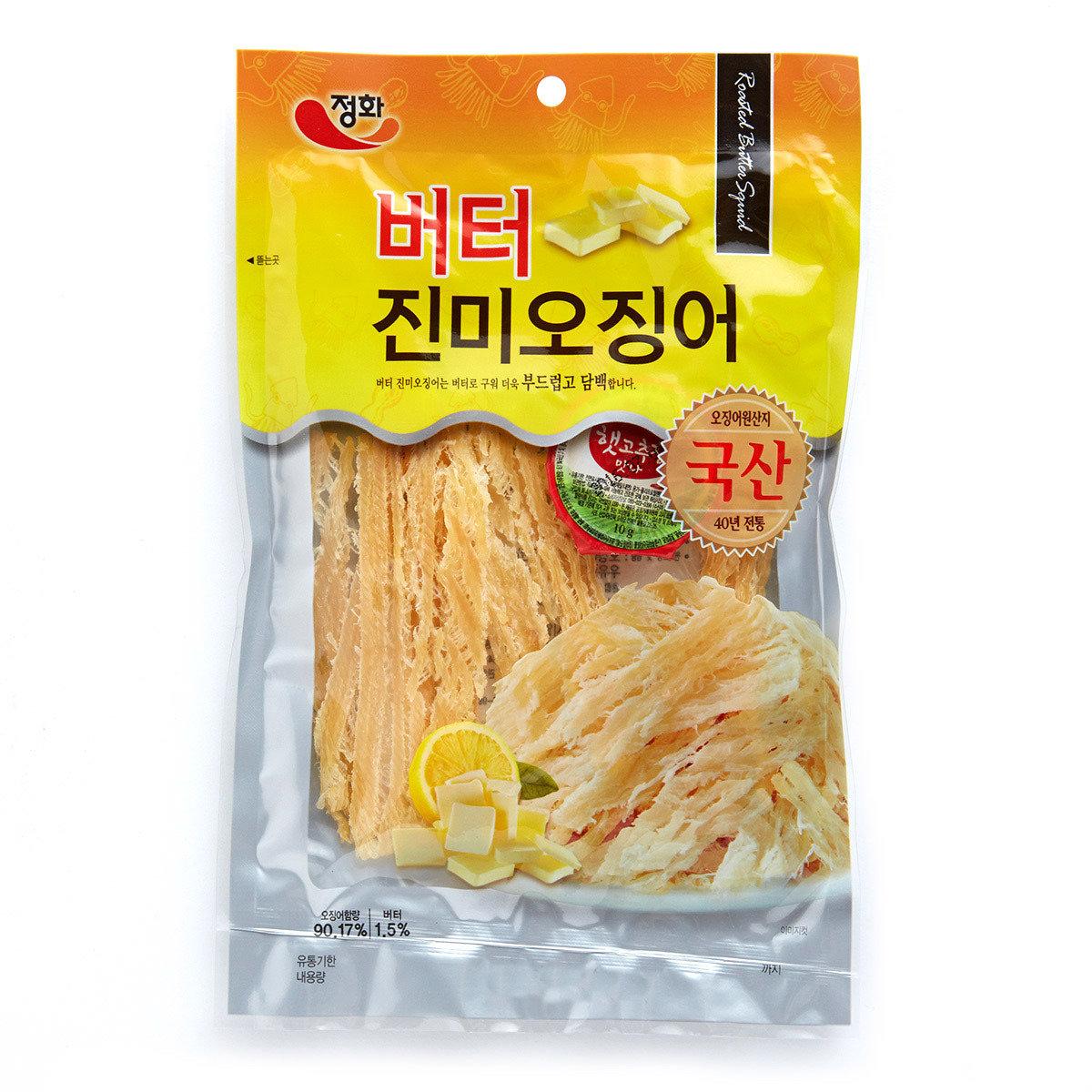 韓國烤魷魚絲 - 牛油味 (附辣椒醬)