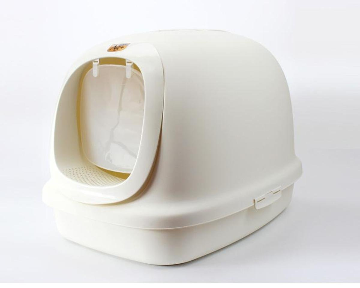 特大豪華有蓋貓廁所(白色)
