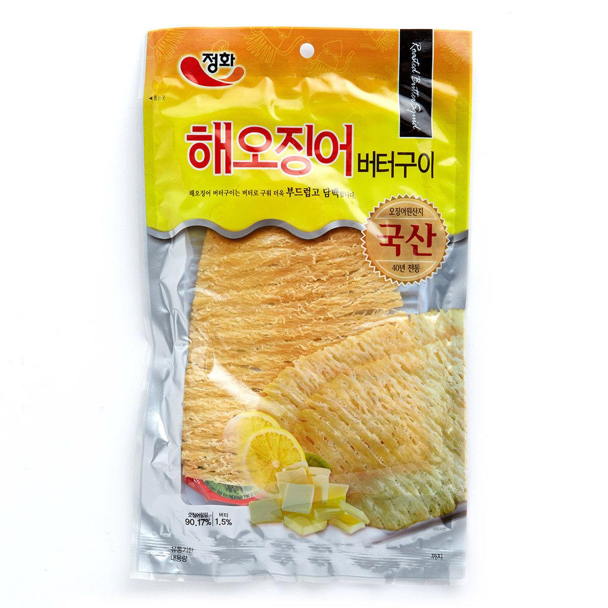韓國烤魷魚片 - 牛油味 (附辣椒醬)