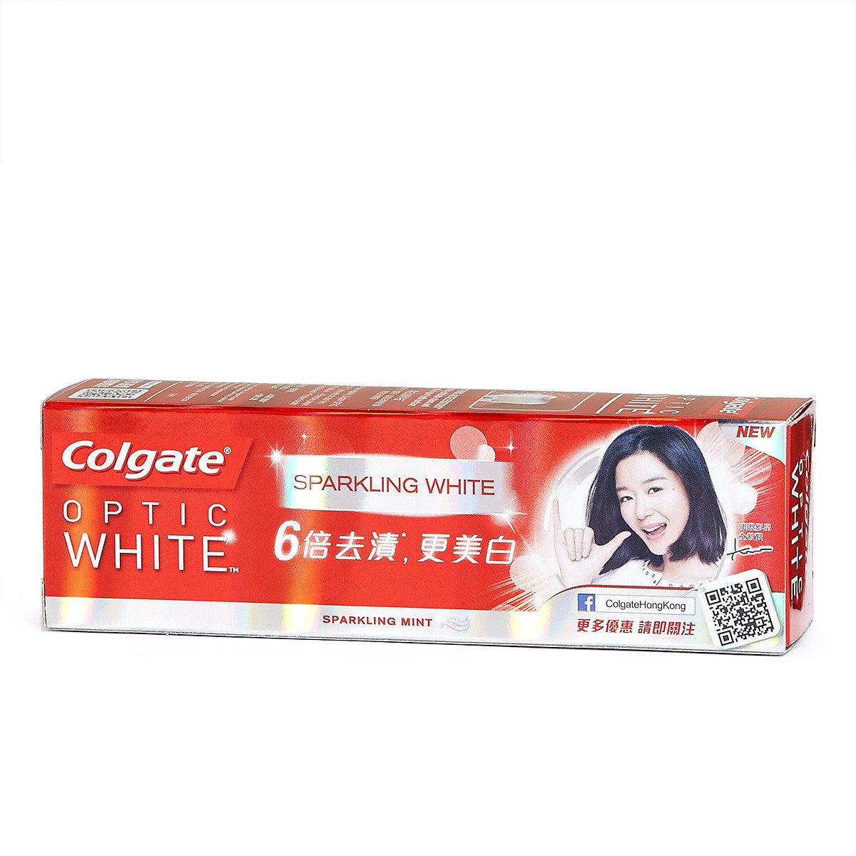 光感白閃亮薄荷牙膏