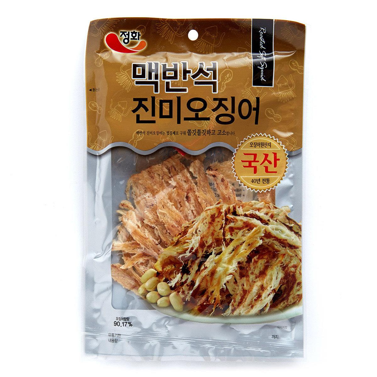 韓國烤魷魚絲 - 原味 (附辣椒醬)