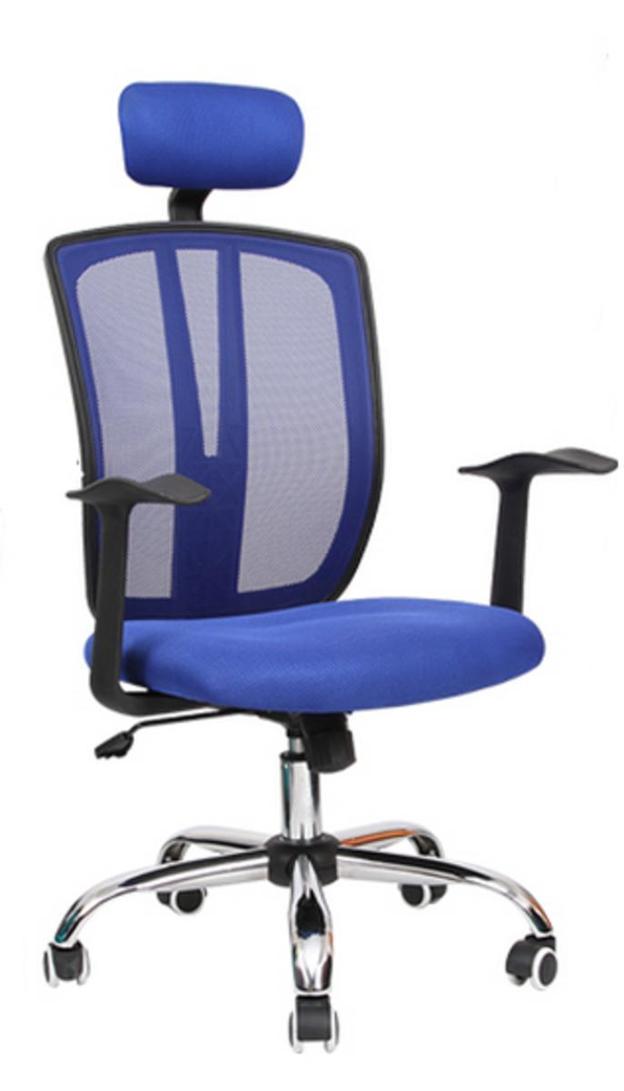 人體工學辦公椅-寶藍色