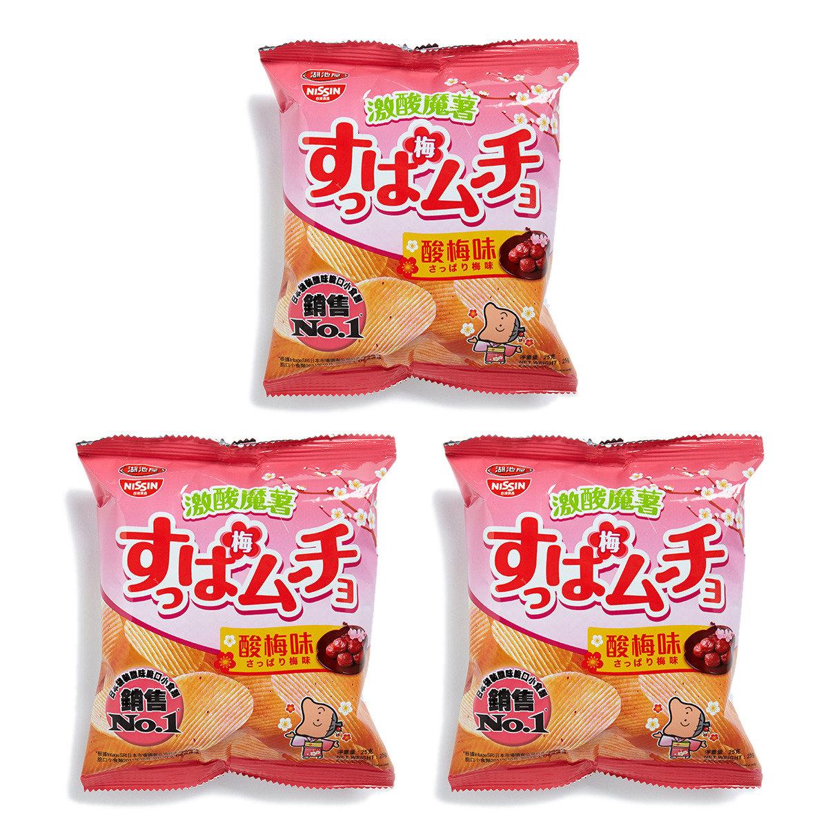 湖池屋激酸魔薯酸梅味薯片 (小)