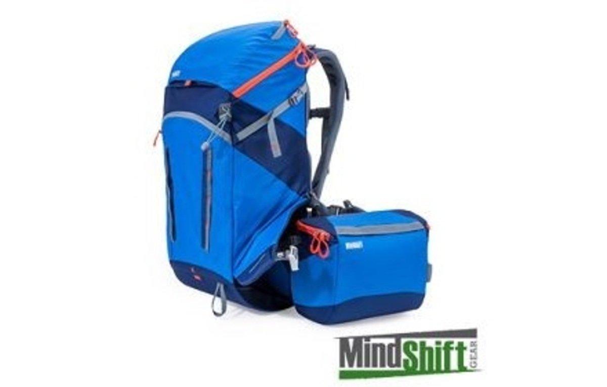 戶外探險攝影袋-暮光藍