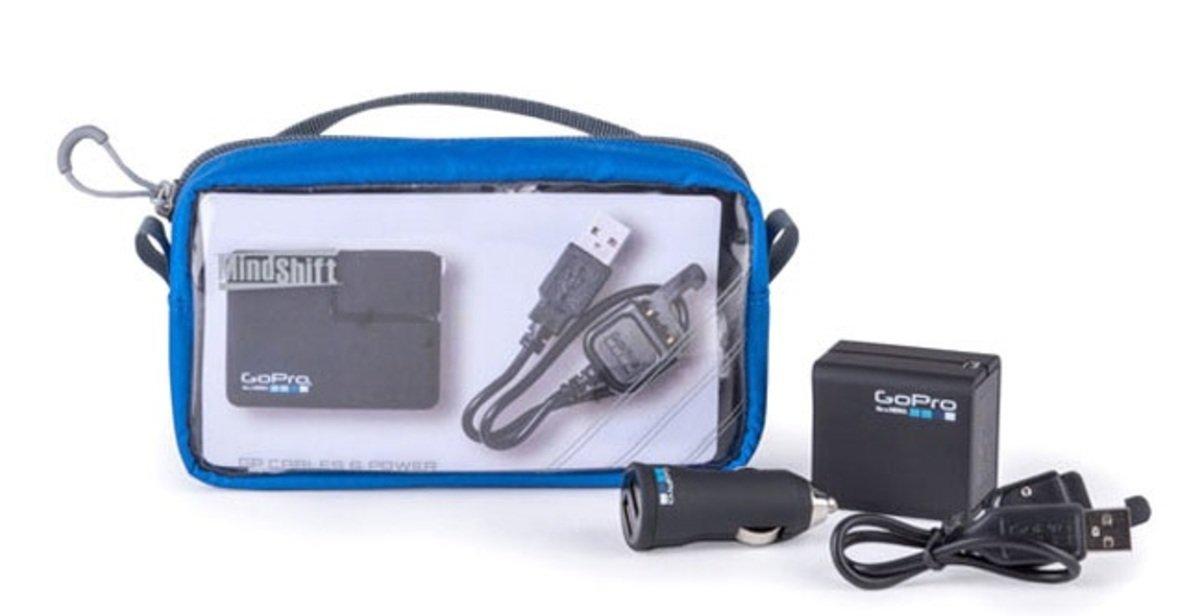 GP電源線充電器收納袋-暮光藍