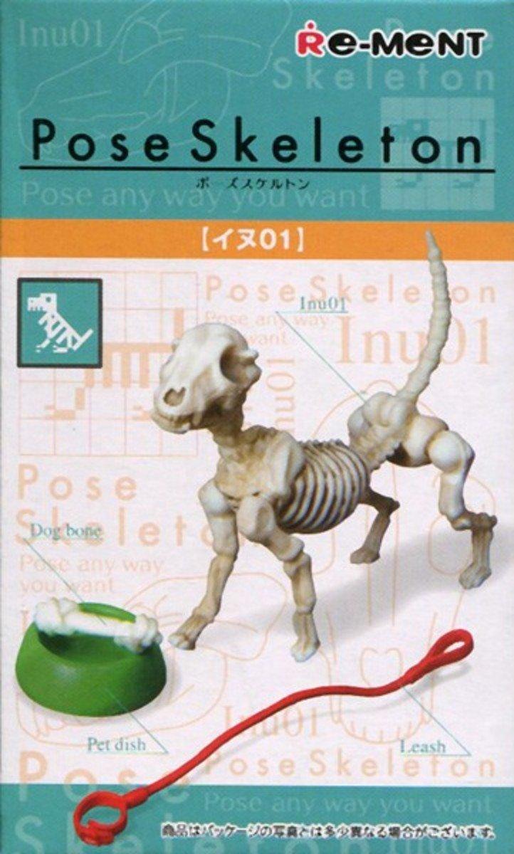 Re-ment  Pose Skeleton系列 骷髏人  場景組 骨頭狗