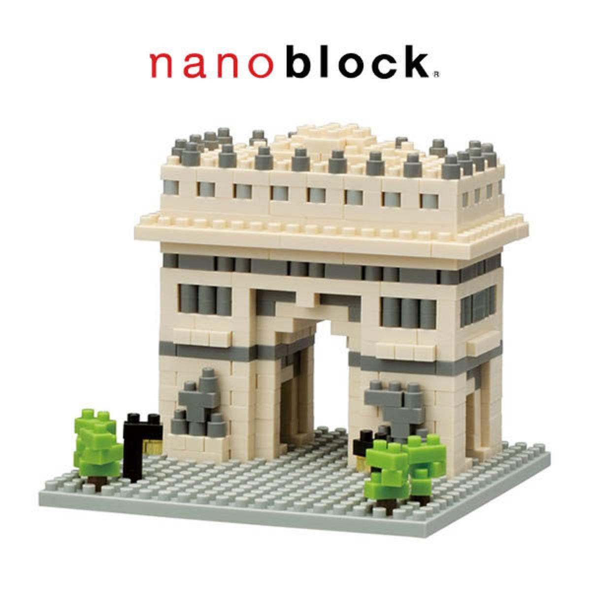 日本河田積木 Nanoblock系列 NBH-075 法國巴黎凱旋門