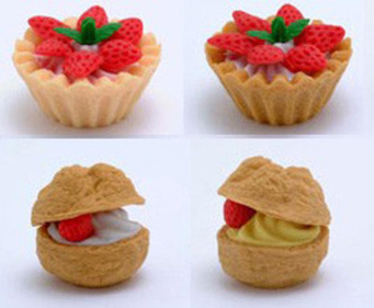 日本製 NO PVC 環保 甜品造型 橡皮擦 (一套4款)