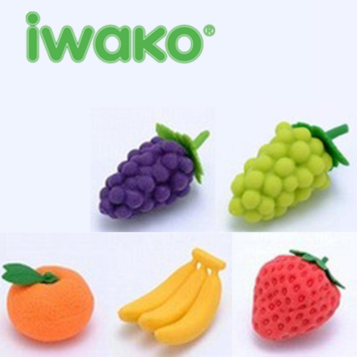 日本製 NO PVC 環保 水果造型 橡皮擦 (一套5款)