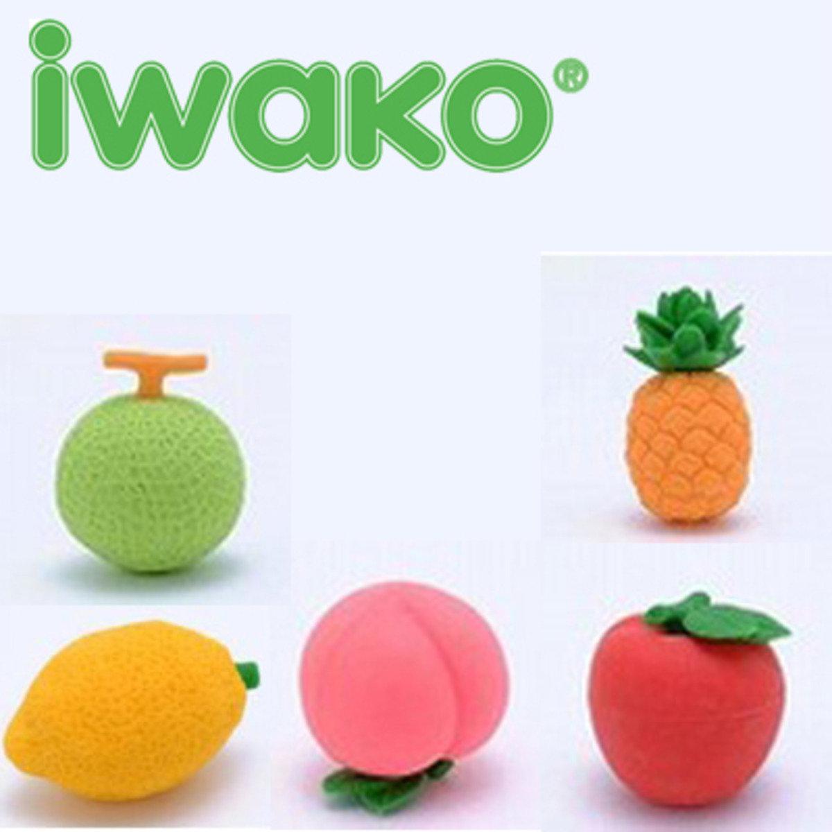 日本製 NO PVC 環保水果造型 橡皮擦 (一套5款)