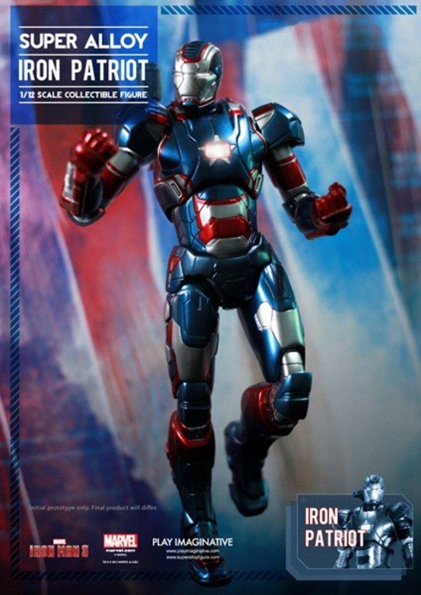 Super Alloy 超合金 1/12 鋼鐵奇俠3  Iron Patriot 鋼鐵愛國者