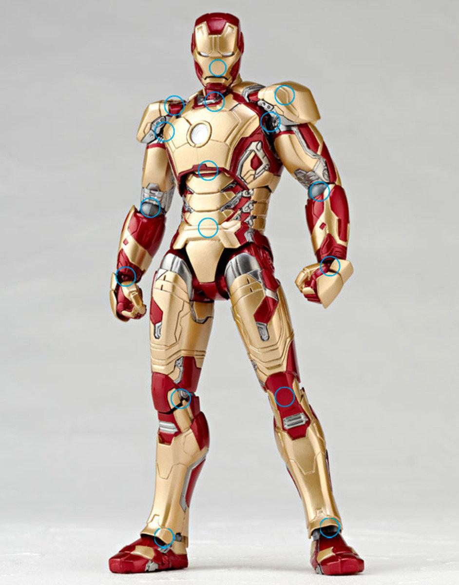 特撮  Sci-Fi 系列 No.049  Revoltech 鐵甲奇俠3  Iron Man Mark XLII