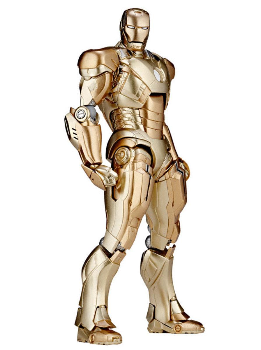 特撮  Sci-Fi 系列 No.052  Revoltech 鐵甲奇俠 3 Iron Man Mark XXI (Midas 黃金版本)