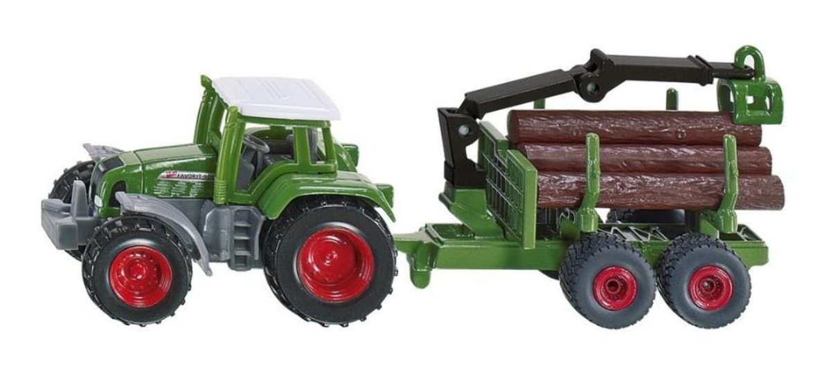 SIKU 1645, Tractor with Forestry Trailer 木材運輸車