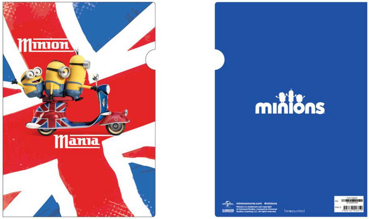 迷你兵團 A4 膠文件夾- Minion Mania (紅)