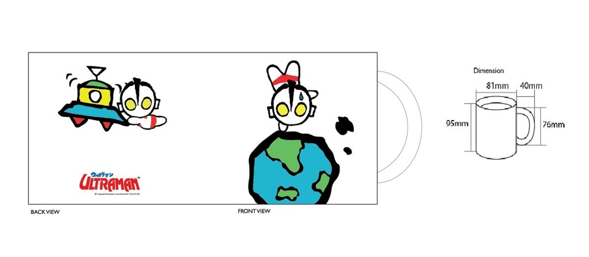馬克杯 - Q版咸蛋超人與地球