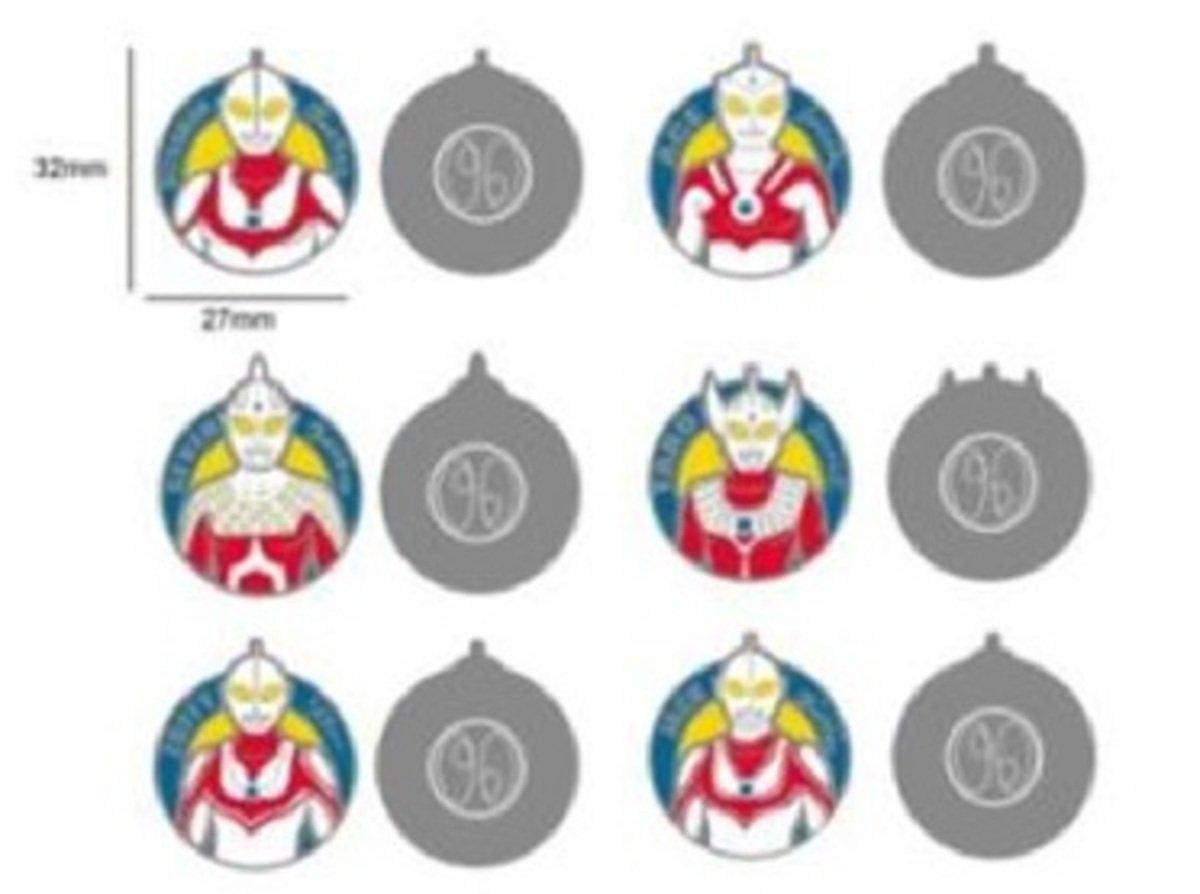6個裝鐵製咸蛋超人襟章