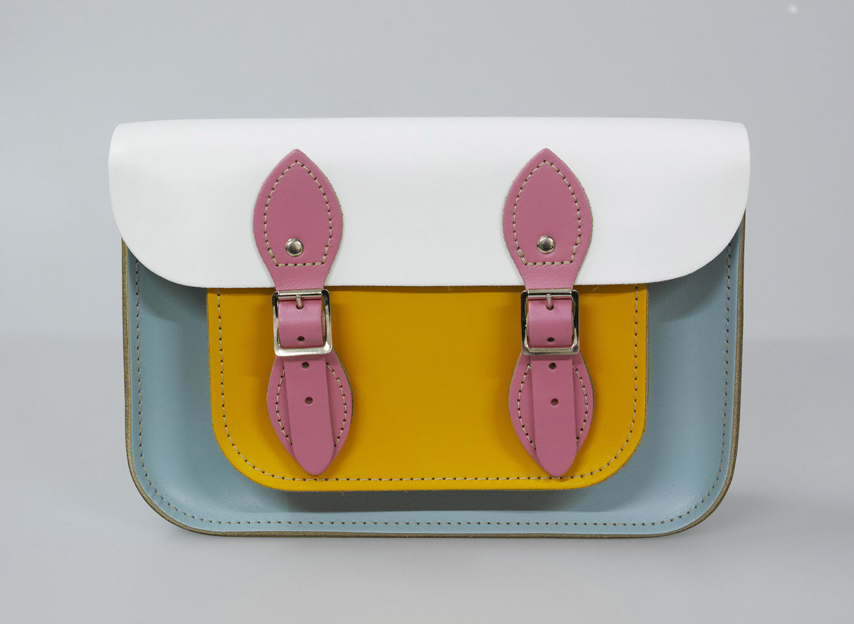 11'' Satchel – Baby Blue | Baby pink | White | Yellow