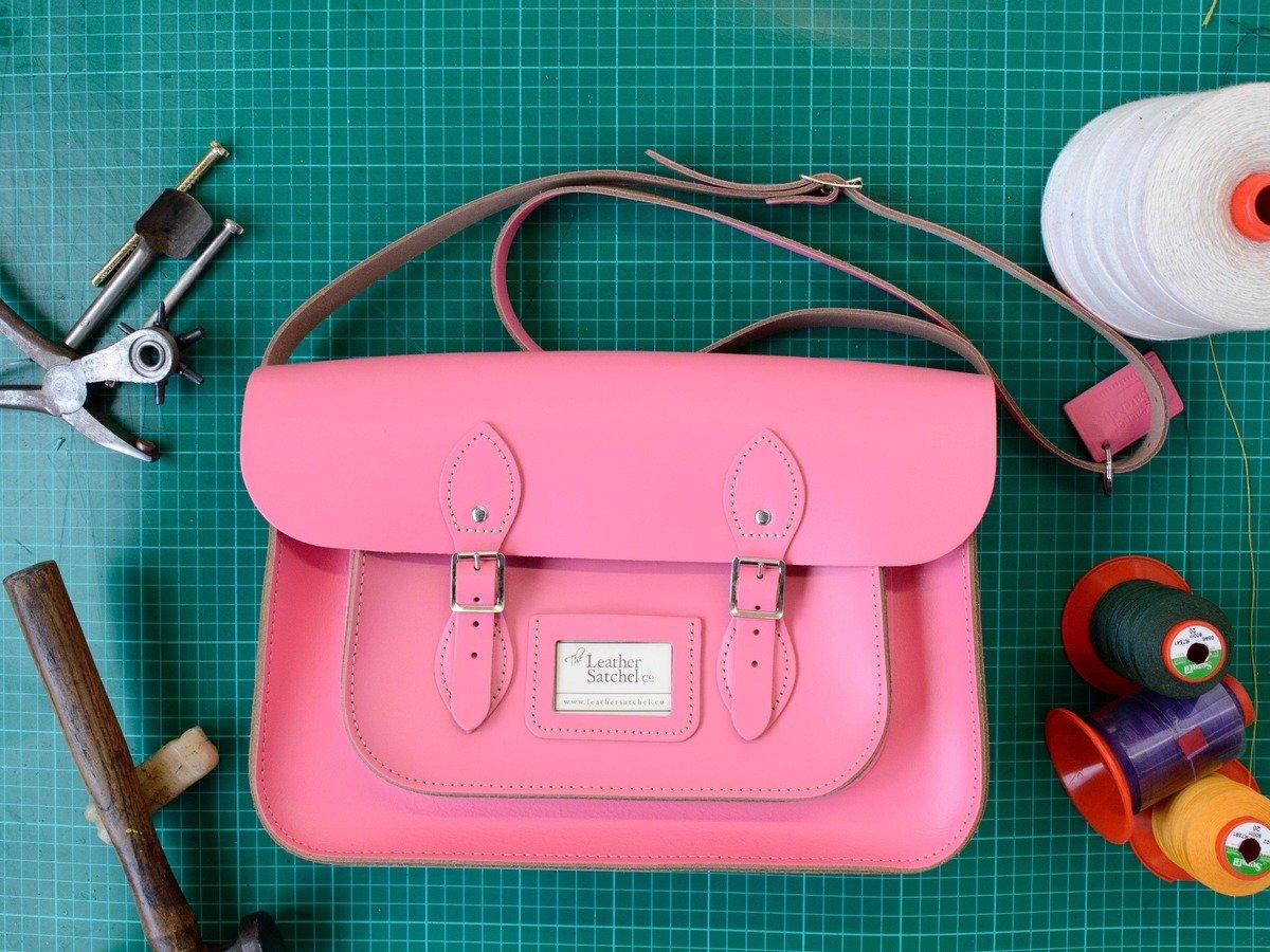12.5'' Satchel – Baby Pink
