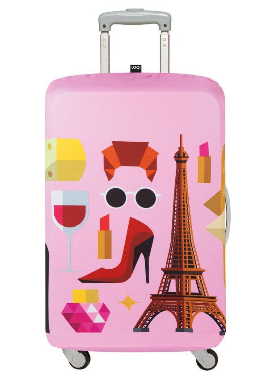 3c9e688cc0e0 LOQI | Luggage Cover (M) – Hey Paris | Color : Multi | Size : F ...