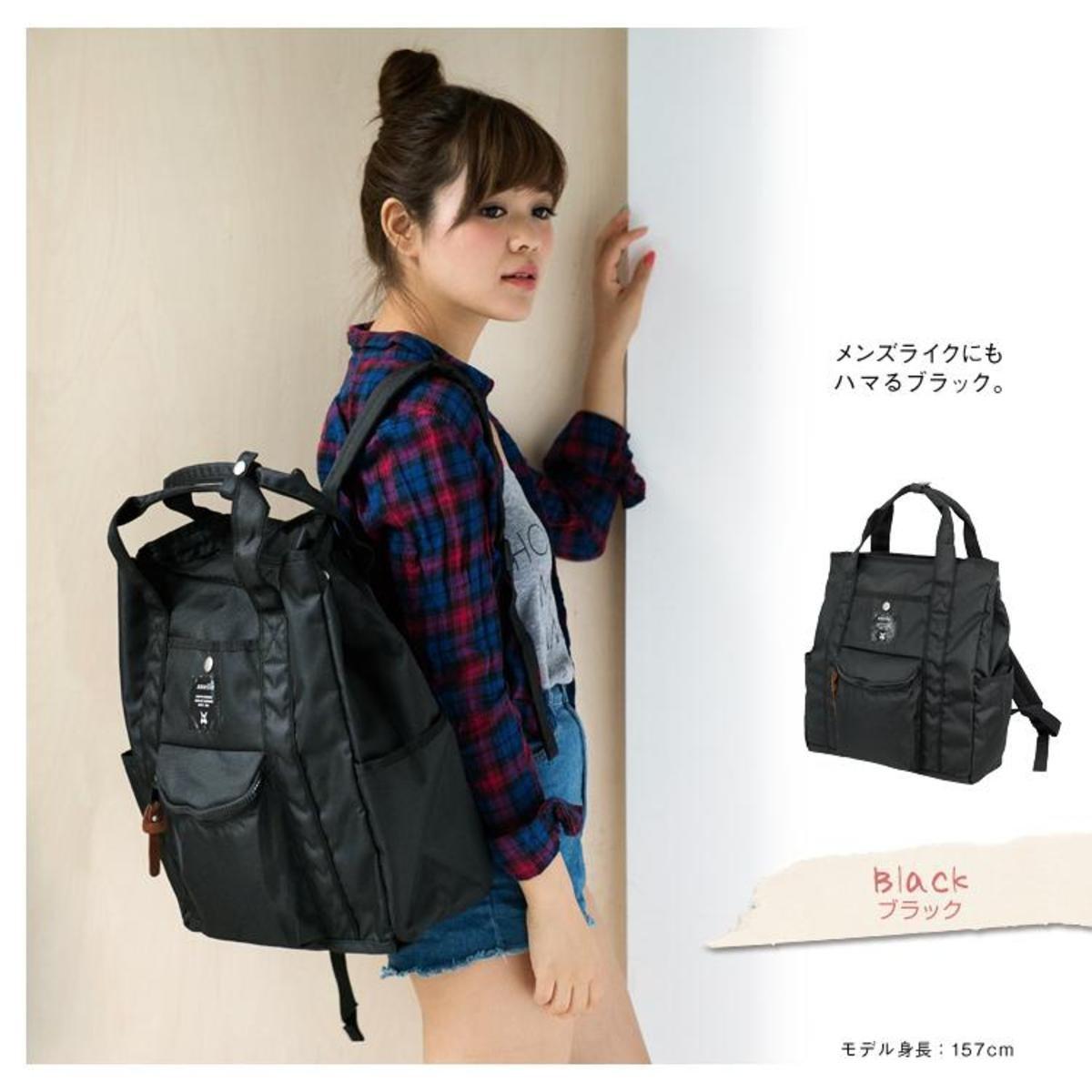肩揹/背包兩用袋 ATN0071-黑色