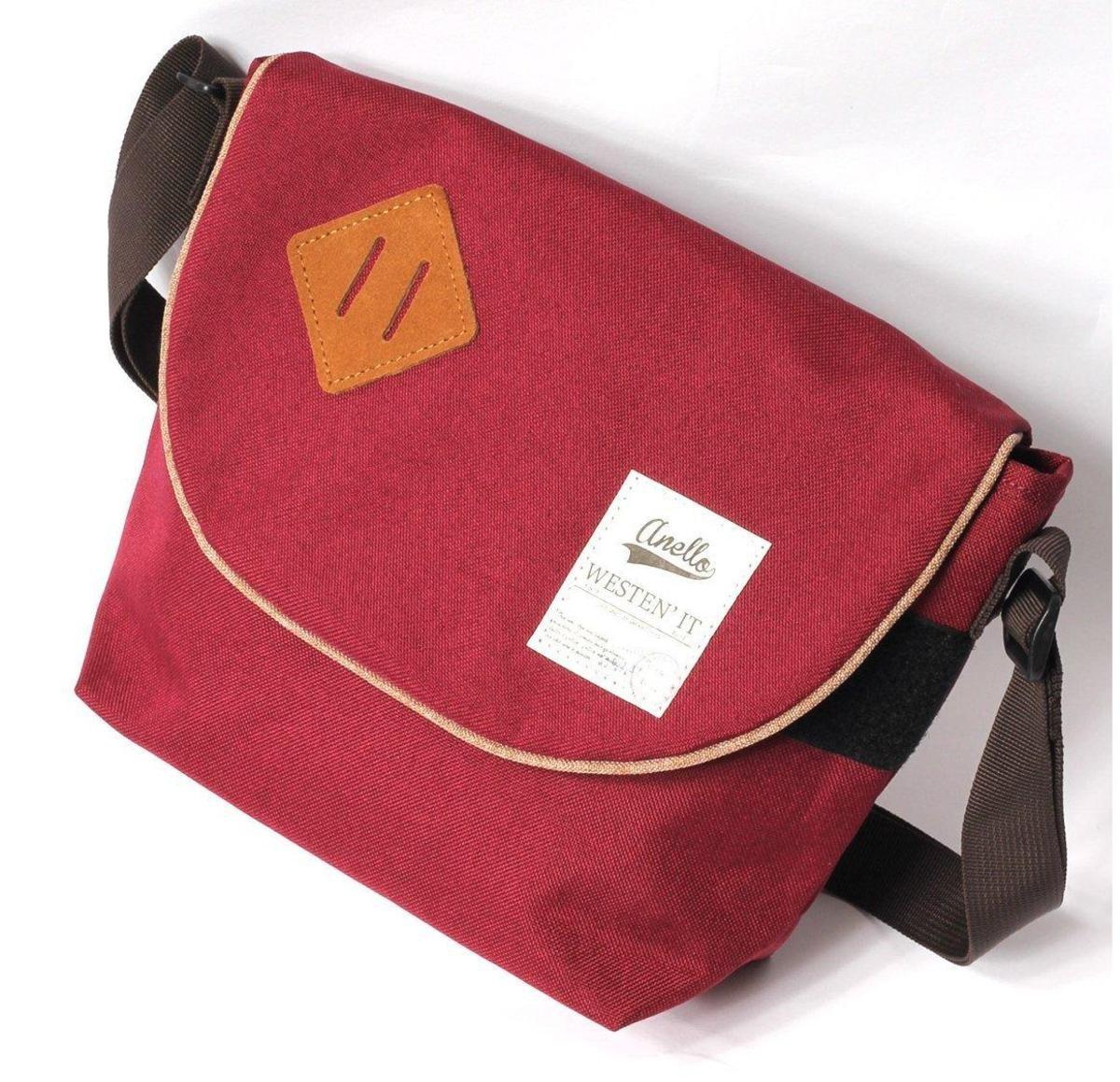 肩揹斜孭袋 AUA0131-酒紅色
