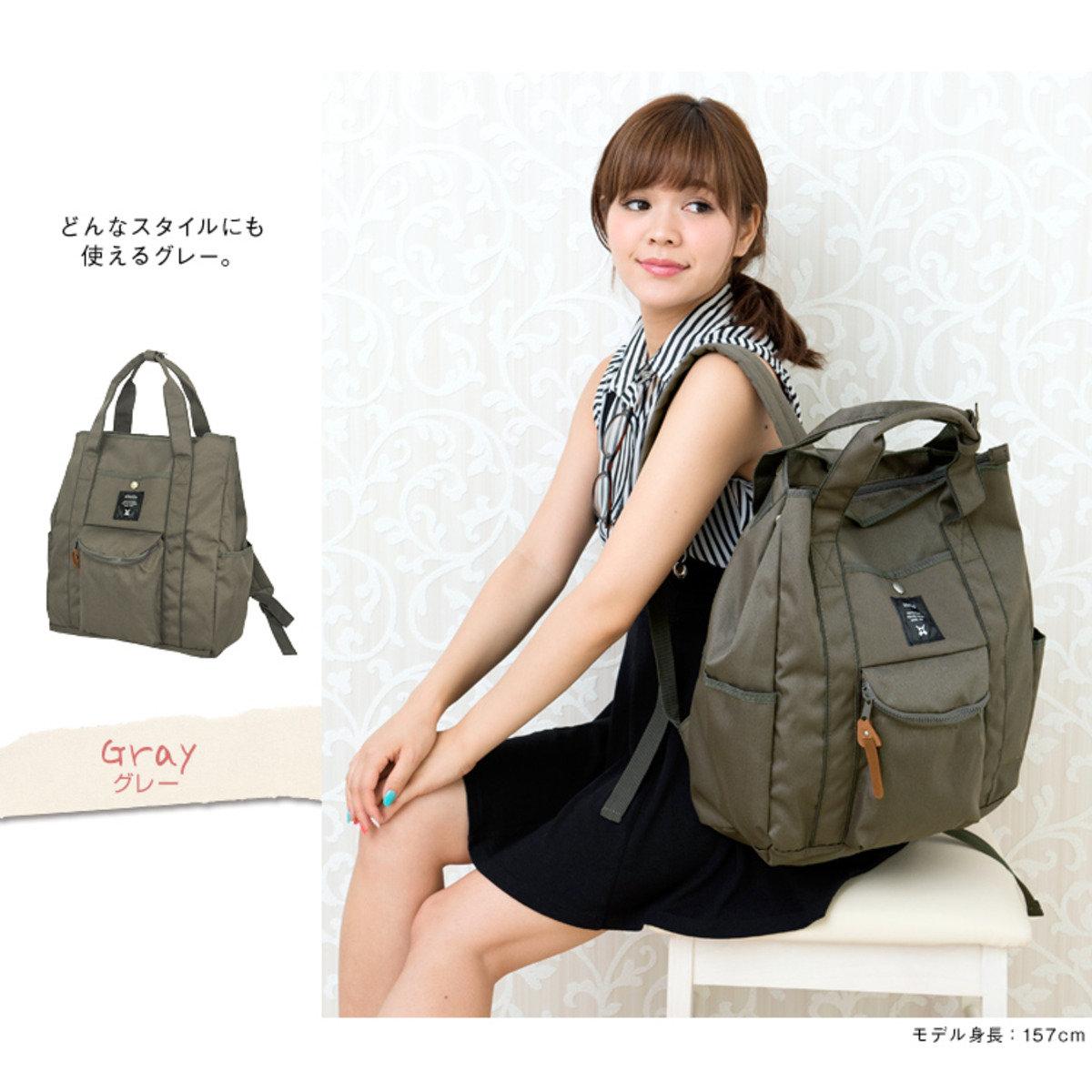肩揹/背包兩用袋 ATN0071-灰色