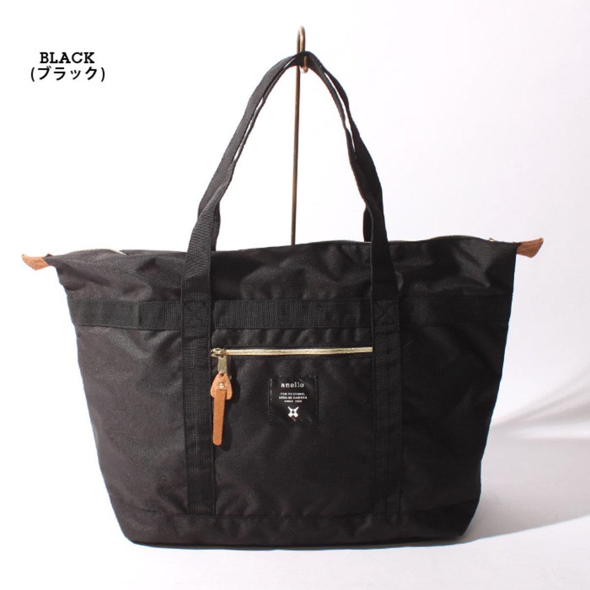 輕量帆布肩揹大袋 AT-B0196-BK-黑色