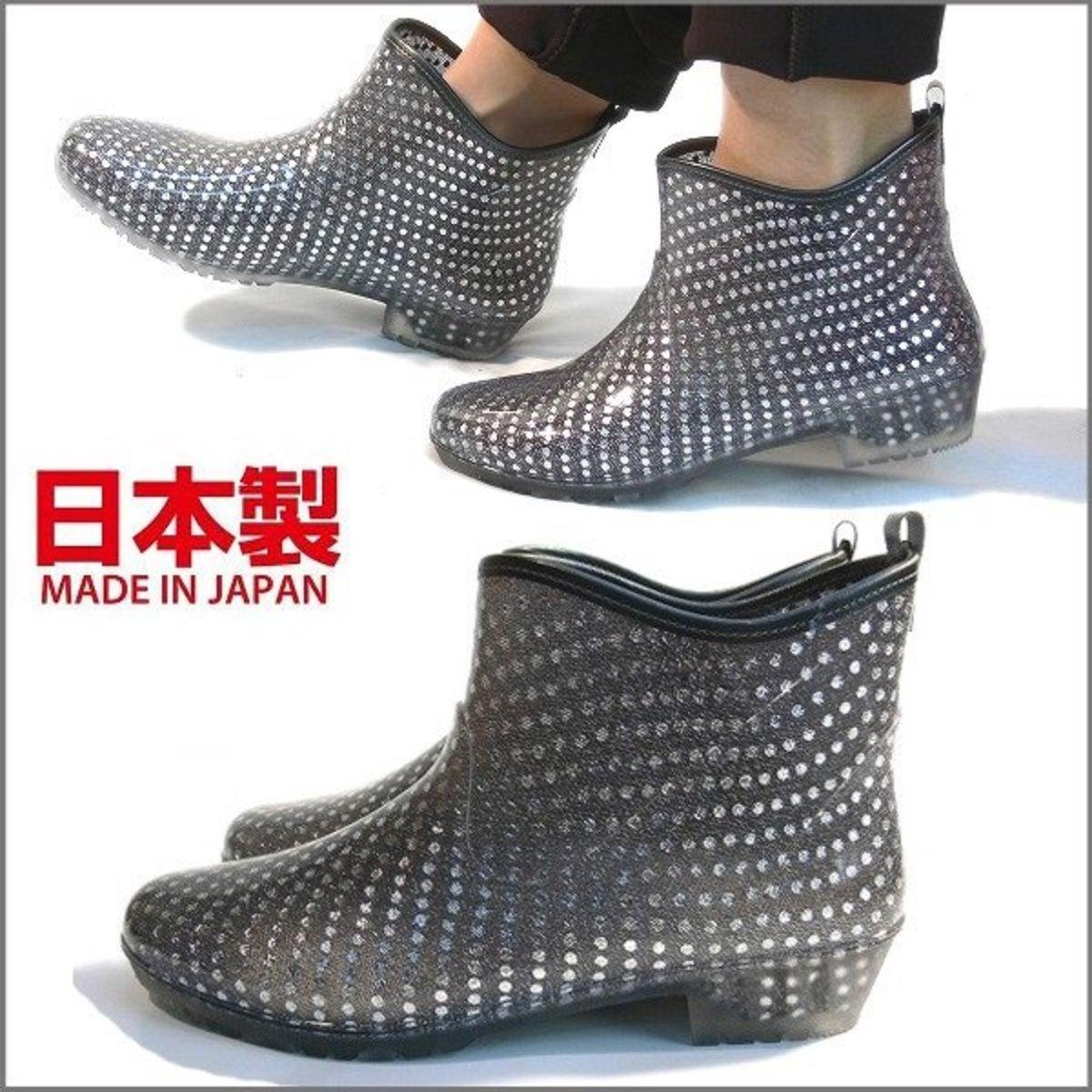 993569f600d8e Japan Made Short Rain Boots – Sequin Black (781)