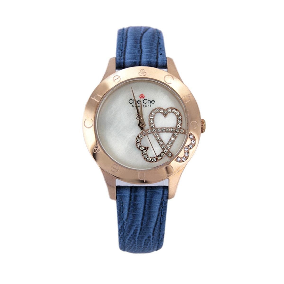 圖形浮雕皮帶手腕錶