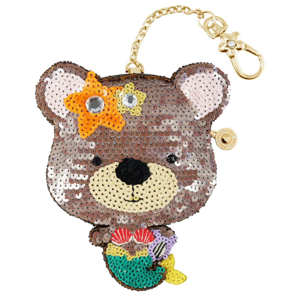 小熊美人魚零錢包