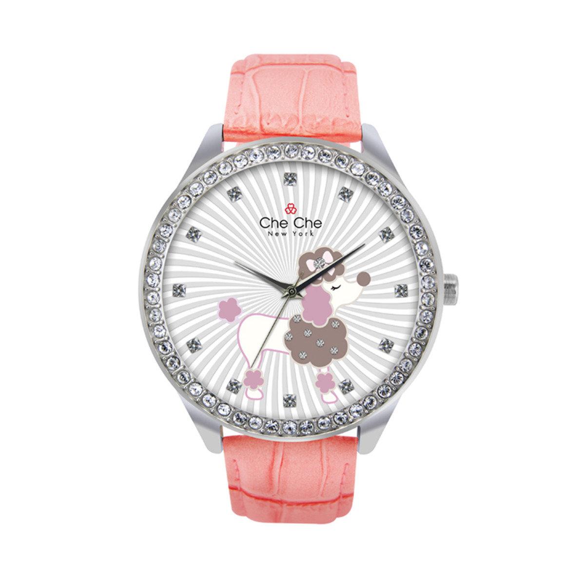 甜美貴富狗皮帶手腕錶