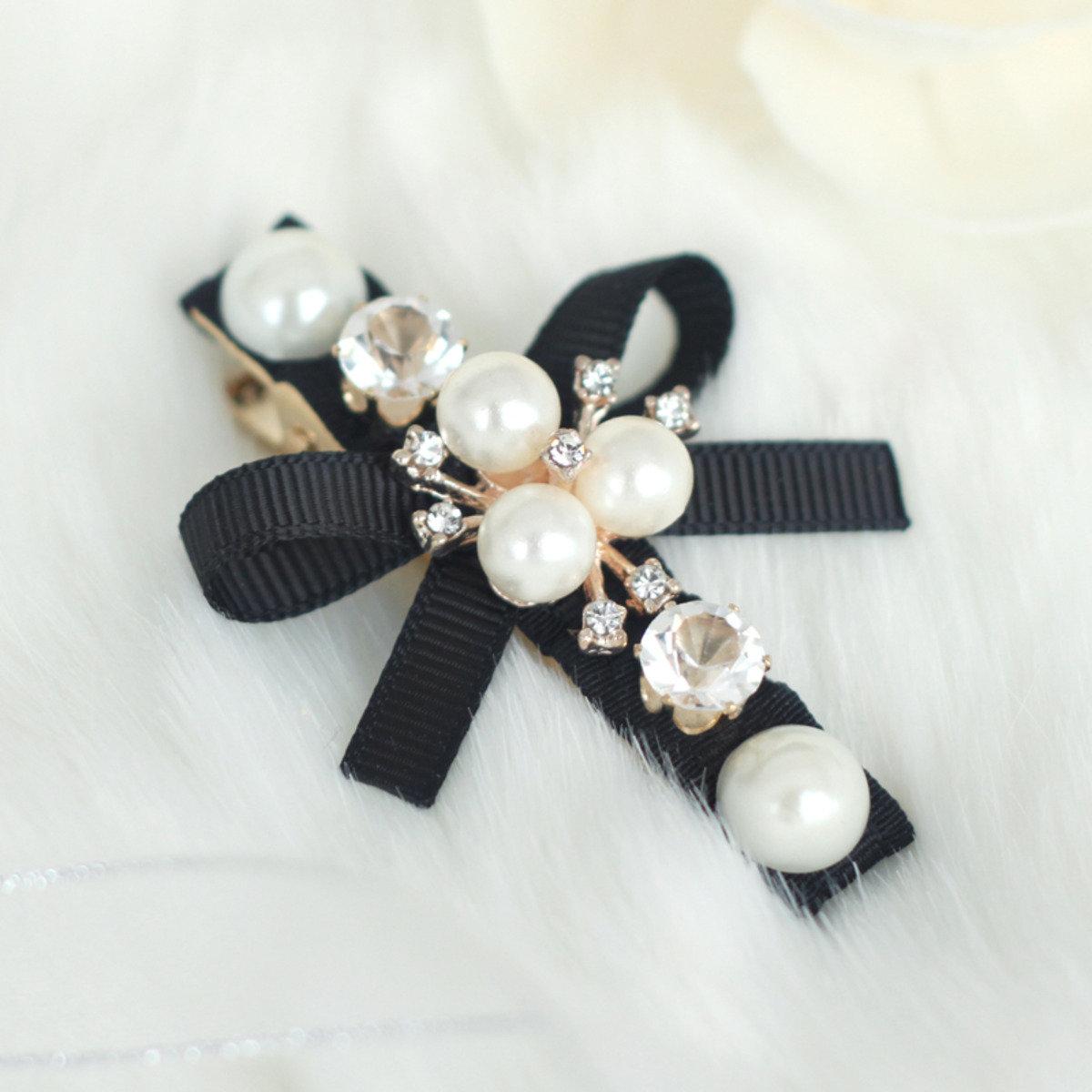 優美珍珠髮夾