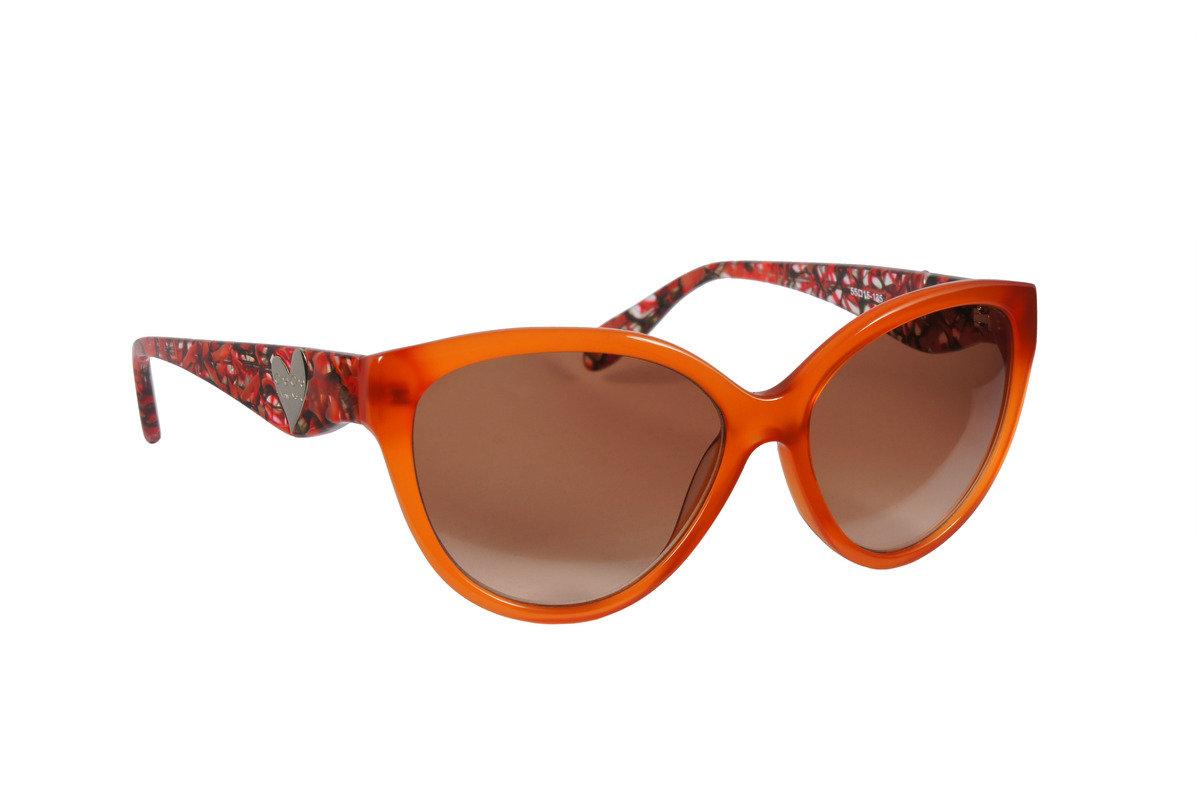 橙色花柄女裝太陽鏡