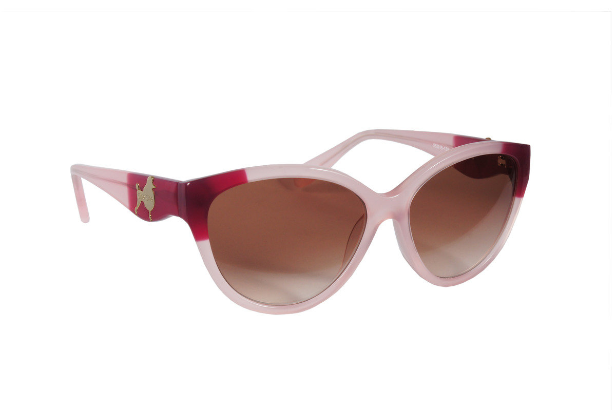 粉紅拼紅框女裝太陽鏡