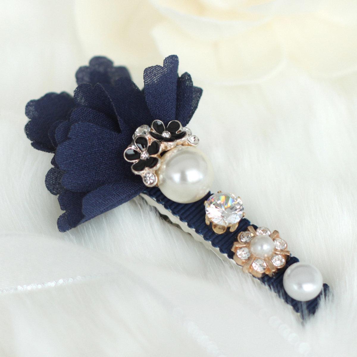 典雅珍珠髮夾