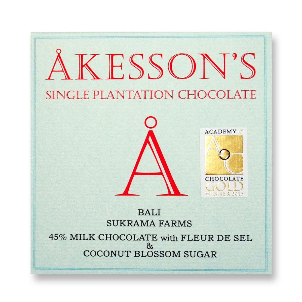 巴里Sukrama Farms莊園 45%牛奶朱古力配海鹽及有機椰子花蜜糖