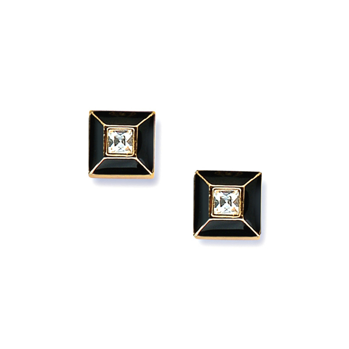 Pyramide pierced earrings