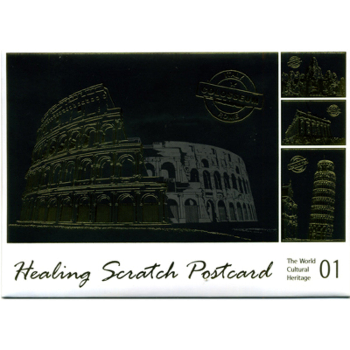 HEALING SCRATCH POSTCARD #1 THE WORLD CULTURAL HERITAGE