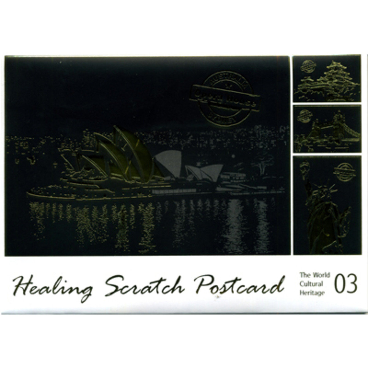 HEALING SCRATCH POSTCARD #3 THE WORLD CULTURAL HERITAGE