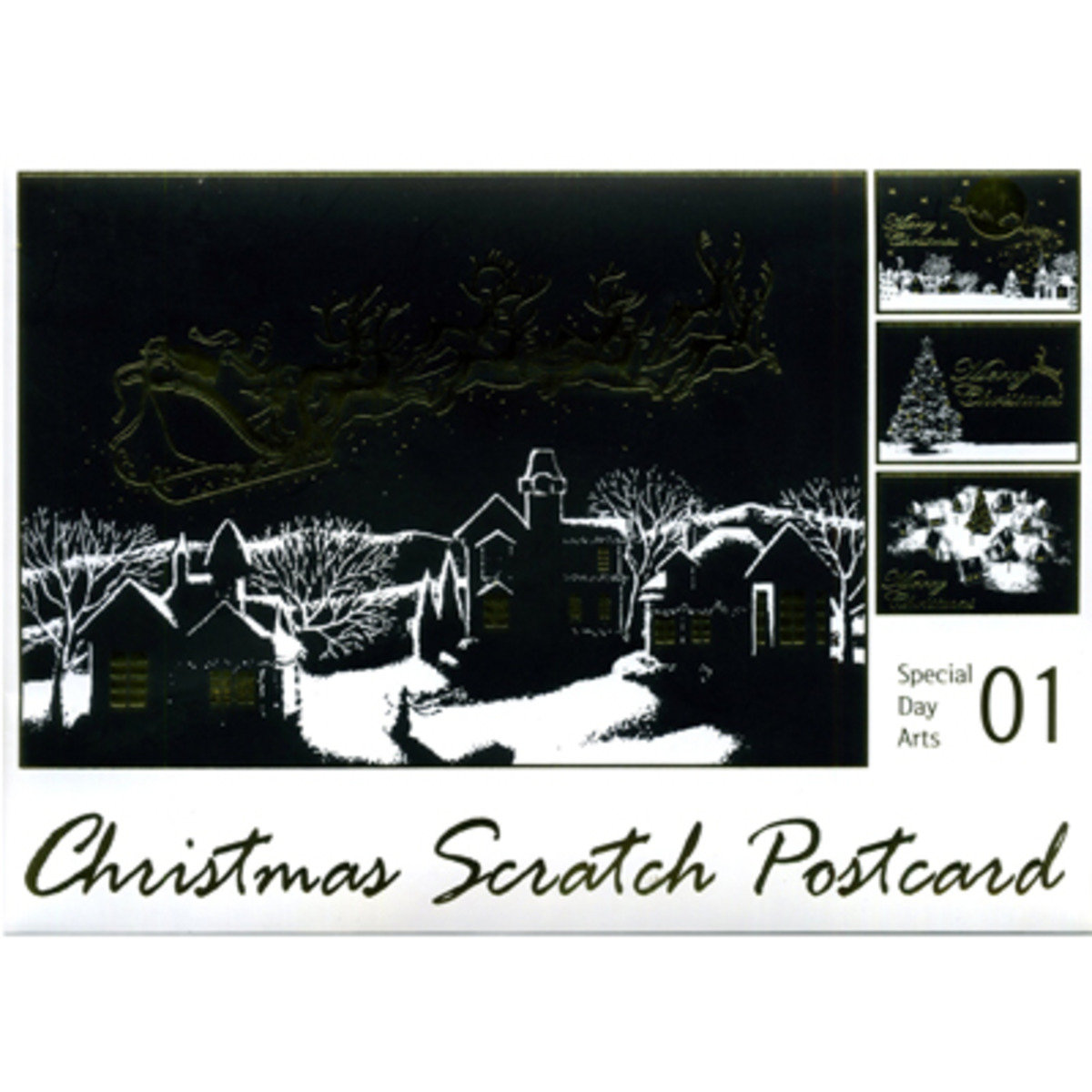 CHRISTMAS SCRATCH POSTCARD #1 8809379160771