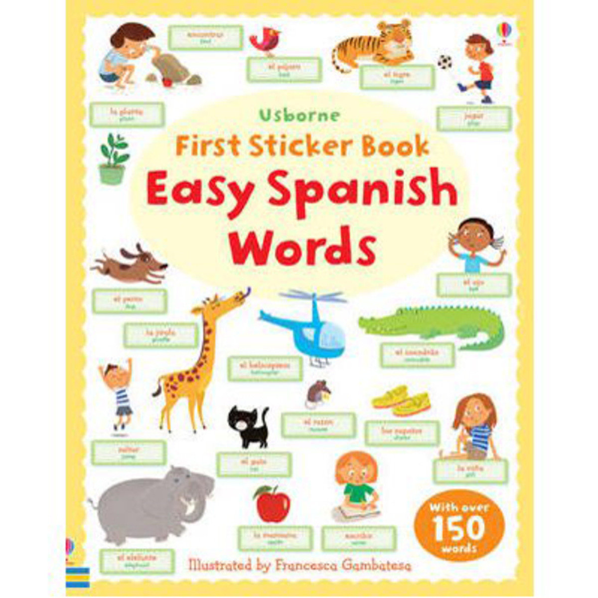 FIRST STICKER EASY SPANISH WORDS